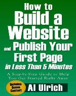 How to build a Website and Publish your first page in less than Five Minutes