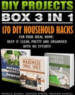 DIY Projects BOX SET 3 IN 1. 170 DIY Household Hacks For Your Ideal Home: Keep It Clean, Pretty and Organised With No Efforts!: (DIY Projects, diy household ... Speed Cleaning, small space organizing)) - Book Cover