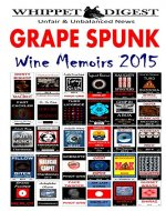 Grape Spunk - Wine Memoirs 2015 (The Whippet Digest Presents) - Book Cover