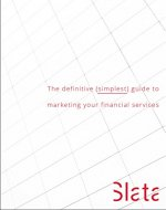 The Definite (Simplest) Guide to Marketing Your Financial Services - Book Cover