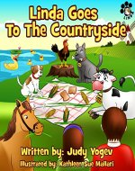 Children's book: Linda Goes to the Countryside - A story about the adventures of a little dog and its friends the farm animals.: (Bedtime picture book ... learners) (Linda's Adventures 2) - Book Cover