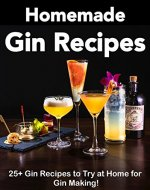 Homemade Gin Recipes: Gin Recipes to Try at Home for Gin Making! (Gin Botanicals, Gin Cocktails, Gin Recipe Book) - Book Cover