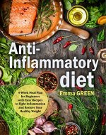 Anti-Inflammatory Diet: 4-Week Meal Plan for Beginners with Easy Recipes to Fight Inflammation and Restore Your Healthy Weight. (Anti Inflammatory Diet, Anti-Inflammatory Recipes, Anti Inflammatory) - Book Cover