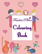 Fuschia Phlox Colouring Book: Colouring & Drawing Activity Book - Book Cover