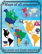 Maps of all countries in North and South America - Book Cover