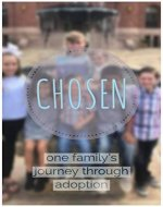 CHOSEN: one family's journey through adoption - Book Cover