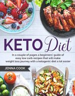 Keto Diet: In a couple of pages a beginners' guide of easy low carb recipes that will make weight loss journey with a ketogenic diet a lot easier. (low carb, high fat, weight loss, ketogenic Book 1) - Book Cover