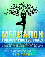 Meditation  For Busy Professionals: 15 Minutes A Day To A Stress-free And Happier Life (Meditation, Mindfulness, Happiness, Stress Management Book 1) - Book Cover