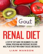 Renal Diet: A Low Sodium, Potassium And Phosphorus Delicious Meal Plan To Help With Kidney Disease And Dialysis (Nutritional Guide, Cook Book, For Beginners, ... for Breakfast Lunch Dinner And Snacks) - Book Cover