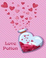 Love potion Notebooks : Valentine Gift For Her, Valentine's day gift, Girlfriend gift, Love Notes Journal, Cute Gift for Girlfriend |Size: 6 x 9 | - Book Cover