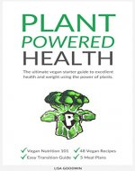 Plant Powered Health: The Ultimate Vegan Starter Guide To Excellent Health And Weight Using The Power Of Plants - Book Cover