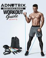 Adnutrix resistance bands workout guide With tracker log - Book Cover
