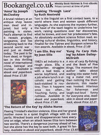 This book was featured in our newspaper column - click for larger version