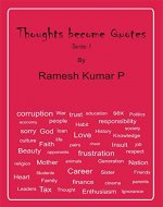 Thoughts become Quotes - Book Cover